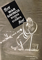 Buy War Saving Bonds cartoon
